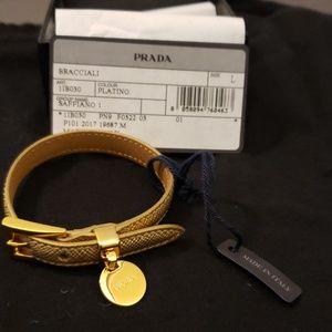 Prada Saffiano Bracelet Platino Color